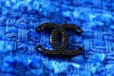 100% Chanel button 1 pieces  cc logo    emblem gold 0,6 inch black