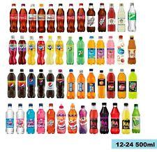 12-24x500ml Coca Cola,Pepsi,Tango,Fanta,7up,Old Jamaica,Rubicon,Lilt soft drink