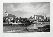 Havelberg, Gesamtansicht. Großer, originaler Stahlstich um 1860