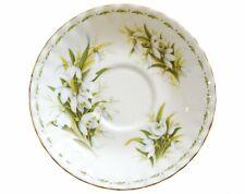Royal Albert flor del mes de enero CAMPANILLA blanca platillo - 1st Calidad