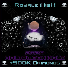 ROBLOX ROYALE HIGH 🎃 HALLOWEEN HALO 2020 + 500K DIAMONDS 🎃 CHEAPEST PRICE!!!