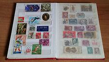 Lotto collezione 103 francobolli di tutto il mondo anni 50-70 postage stamp