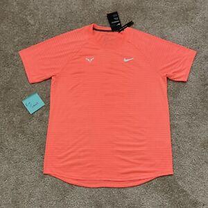 Nike Rafa Nadal Aeroreact Orange Tennis Shirt Crew CI9152 854 Mens L Large $100