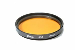 High Quality Glass Kood 85A Filter Made in Japan 49mm 85A Filter 49mm