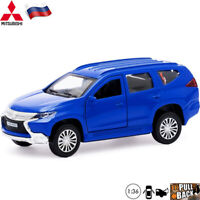 Diecast Vehicles Scale 1:36 Mitsubishi Pajero Sport Blue Russian Model Car