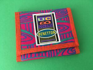 VINTAGE UNITED COLORS OF BENETTON WALLET 80'S NEW ORIGINAL