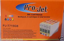 Cualquier 16 NON OEM COMPATIBLE Projet Cartuchos T711 T712 T713 T714 (4 Juegos)