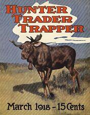 Moose Hunting Vintage Magazine Poster Art Sheds Antlers Heads Hunt 11x14 MAG22