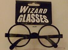 HARRY POTTER Wizard Black GLASSES Round  FANCY DRESS Geek Wally NERD Retro Joke