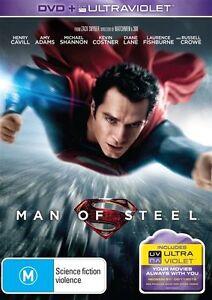Man Of Steel DVD Superman Movie Modern Remake 2013 Henry Cavill Superhero