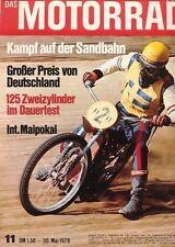 M7011 + Dauertest YAMAHA 125 ccm YAS-1 + Stanley Woods + Das MOTORRAD 11/1970