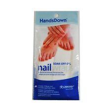 6 Pack 10 Wraps HandsDown Remover Soak Off Gel Wrap Pack