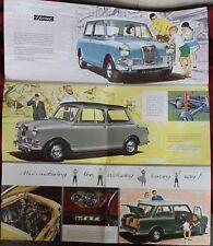12-seitiges Prospekt 1962 Wolseley Hornet Automobil Auto Reklame advertising