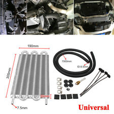12'' Radiator Remote Car Transmission Transfer Oil Cooler W/Cooling Kit 6 Row
