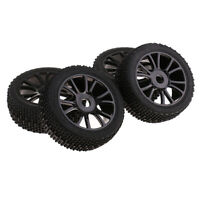 4 Pcs RC 1/8  Car Buggy 17mm Hex Wheel Rims&Tires for   HSP