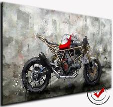DUCATI Superbike Motorrad Bild Bilder Leinwand Wandbild Poster Kunstdruck Deko