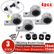 "4X 1"" inch 19 25 30mm Roll Tube Pipe Mount Bracket Clamp Off Road LED Light Bar"