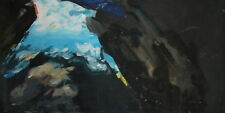 Vintage large abstract expressionist oil painting
