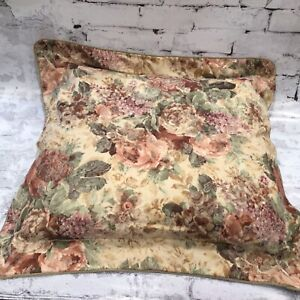 """31"""" x 31"""" Croscill Cotswold Floral Rose EURO Square Throw Pillow Decorative Bed"""