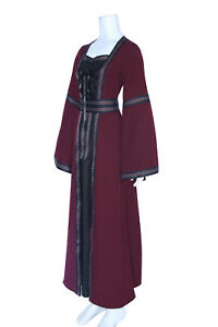Vintage Women Medieval Costume Witch Dress Renaissance Gothic Party Clearance