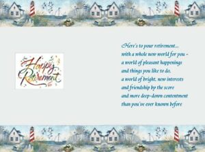 """15 x  Assorted mixed  """"Retirement"""" card inserts with verse for A5"""