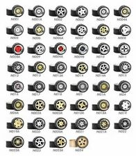 1/64 Scale Alloy Wheels - Custom Hot Wheels, Matchbox, M2 Machines -Rubber Tires