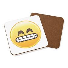 maladroit dents Façade Emoji Dessous De Verre - Drôle visage smiley