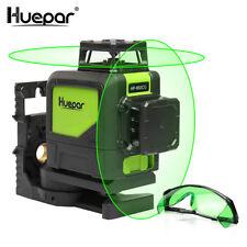 Huepar Auto-nivellement Professionnel Vert Faisceau Croix Ligne Laser 360-Degré