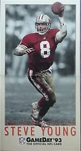 1993 STEVE YOUNG (SAN FRANCISCO 49ERS) GAME DAY FOOTBALL DEALER PROMO