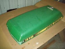 JOHN DEERE 318 & 316 (With ONAN ENGINE) garden tractor hood has been repaired