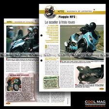 #jbt30.006.b ★ SCOOTER PIAGGIO 125 MP3 (Mod. 2006) ★ Fiche Moto Motorcycle Card