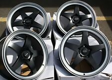 "ALLOY WHEELS X 4 19"" BLACK DARE F7 FOR HOLDEN HONDA LEXUS OPEL VAUXHALL 5X120"
