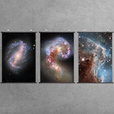 Galaxy Scroll Poster Universe Nebula Paintings Cloth Wall Art Decor Cigar Galaxy