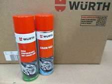 WURTH  DRY CHAIN LUBE AND CHAIN WAX 500 ML MOTORCYCLE BIKE CROSSER-FREE POSTAGE