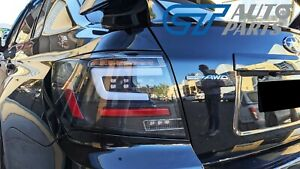 Black LED Taillights Dynamic Signal for 08-13 Subaru Impreza WRX STI RS G3 4D