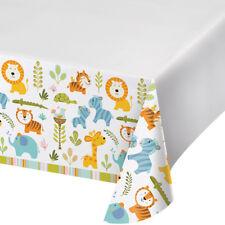 32 Jungle Safari Premium Plastic Table Covers 1st  birthday