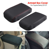 Car Arm Rest Center Armrest Box Cover Protection Leather For Toyota Camry  #