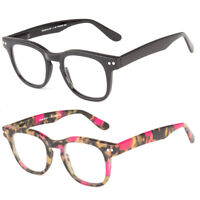 Women Men Fashion Vintage READING Spring Hinge Glasses Clear Lens Premium Frame