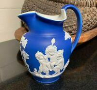 "Wedgwood Stoneware Jasperware 6 1/2"" Jug Bacchanalian Boys Beauclerk Design"