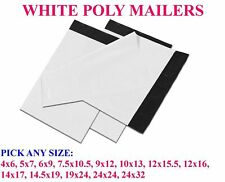 ANY SIZE WHITE POLY MAILERS BAGS SHIPPING MAILING SELF SEALING ENVELOPES 2.5 MIL