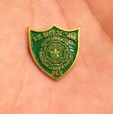 VTG 1959 US AMERICAN LEGION & AUXILIARY 9th DISTRICT LAPEL HAT TIE PIN