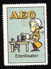 VINTAGE CINDERELLA AEG Medical Doctor Holland Old Hinge-Tape Remnant H