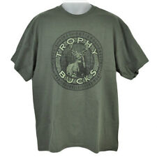 Trophy Buck Outdoors Nature Camping Hunting Hunt Deer Camp Cotton Tshirt Large L