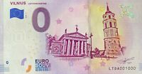 BILLET 0  EURO VILNIUS LIETUVOS SOSTINE 2018  NUMERO 1000