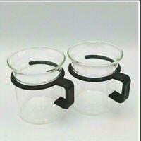 Bodum Black Handle Mug Captain Picard Star Trek Glass Coffee Espresso Teacups 2