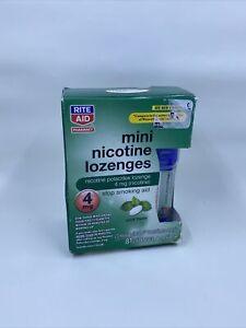 Sealed Nicotine Lozenges 4mg, 81 Mini Lozenges Mint by Rite Aid, Exp 07/2021