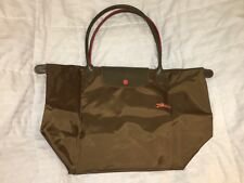 LONGCHAMP Bag LE CLUB PLIAGE Limited Edition KHAKI Large Long Handle PARIS NEW