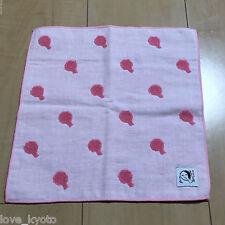 F/S Yojiya Min Gauze Towel Hand Mirror Pink 25cm made in Japan from Kyoto