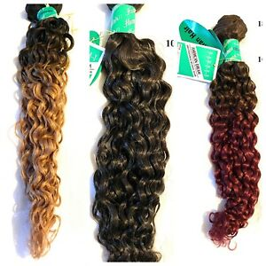 100% HUMAN HAIR 18 inch SPIRAL, CURLY WEFT - AMERICAN DREAM