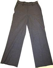 Marc Jacobs heather gray wool trousers sz 8 black trim silk lining NEW $795